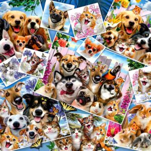 Selfie Pet Collage 2000 Piece Jigsaw Puzzle - Anatolian