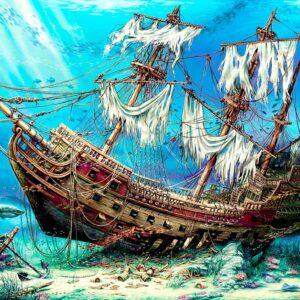 Shipwreck Sea 1500 Piece Jigsaw Puzzle - Anatolian