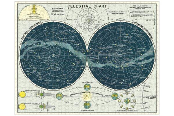 Vintage Puzzle - Celestial 1000 Piece Puzzle - Cavallini & Co