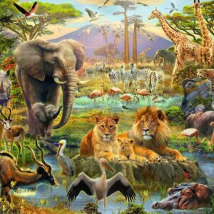 Animals of the Savanna 200 Piece Puzzle - Ravensburger