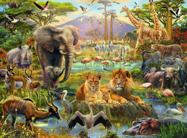 Animals of the Savanna 200 Piece Puzzle - Ravensburger