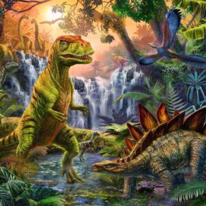 Dinosaur Oasis 100 Piece Jigsaw Puzzle - Ravensburger