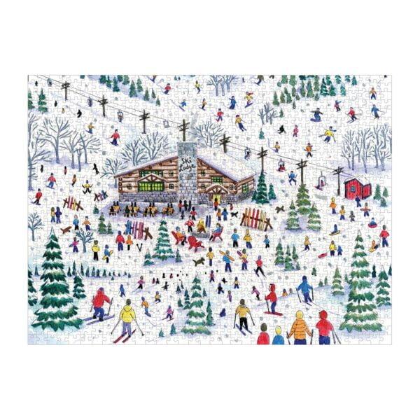 Michael Storrings - Aspres Ski 1000 Piece Jigsaw Puzzle - Galison