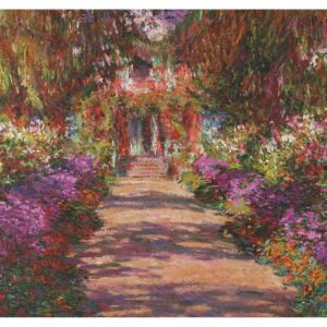 Pathway in Monet's Garden 1000 Piece Jigsaw Puzzle - Piatnik