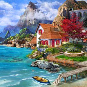 Seeside Seaside 1000 Piece Jigsaw Puzzle - Funbox