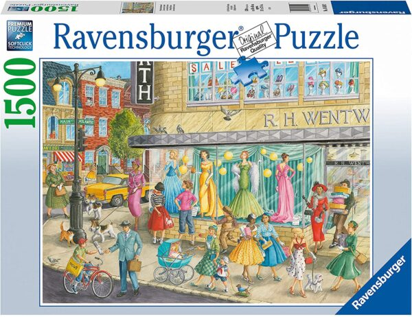 Sidewalk Fashion 1500 Piece Jigsaw Puzzle - Ravensburger