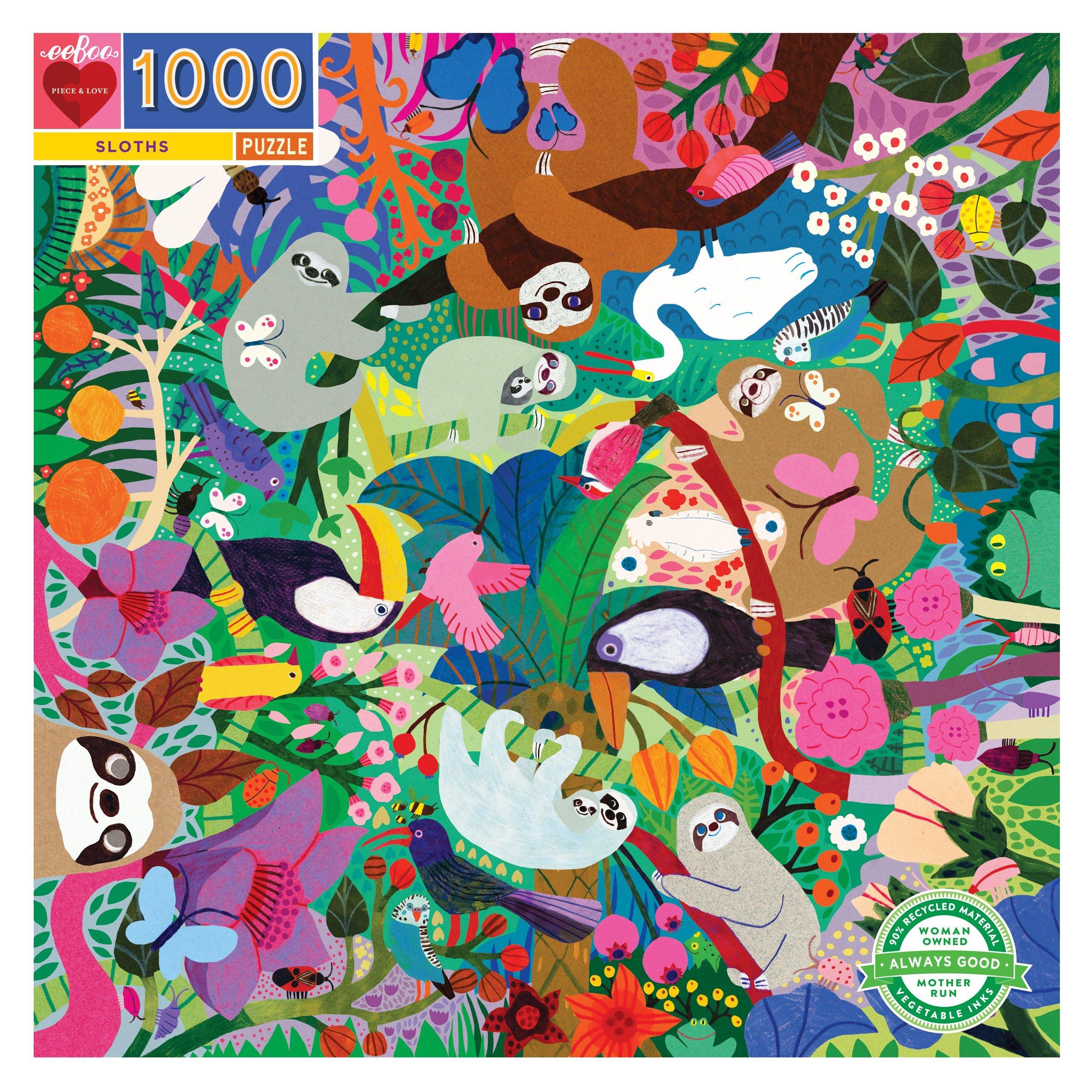 Sloths 1000 Piece Puzzle - eeBoo