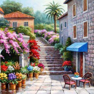 Springtime Flower Shop 260 Piece Puzzle - Anatolian