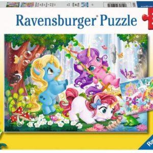 Unicorns at Play 2 x 12 Piece Puzzles - Ravensburger