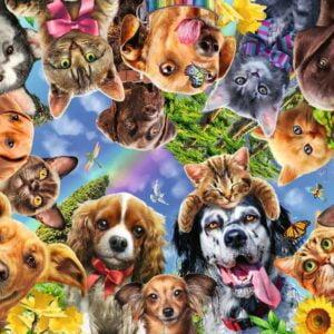 Animal Selfie 500 Piece Jigsaw Puzzle - Ravensburger