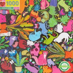 Cats at Work 1000 Piece Puzzle - eeBoo