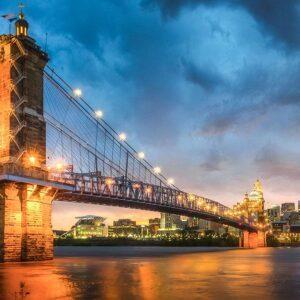 Cincinnati Bridge at Dusk 1000 Piece Puzzle - Funbox
