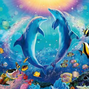 Dancing Dolphins 500 Piece Puzzle - Ravensburger