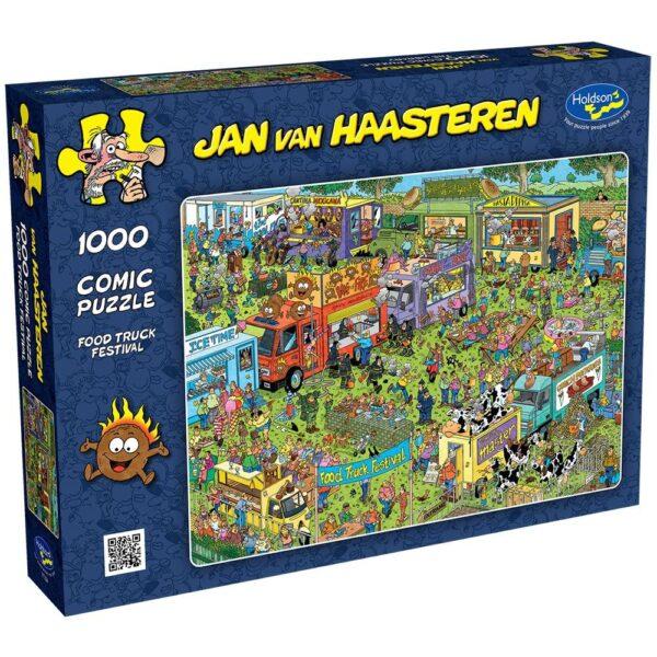 Jan Van Haasteren - Food Truck Festival 1000 Piece Puzzle - Holdson