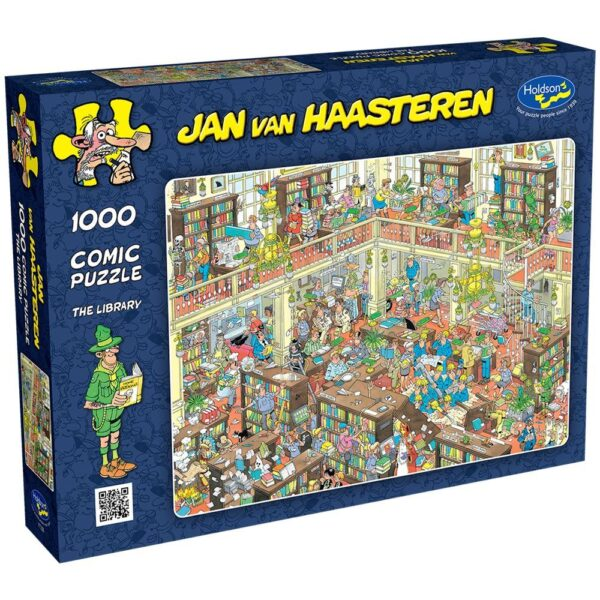 Jan Van Haasteren - The Library 1000 Piece Puzzle - Holdson