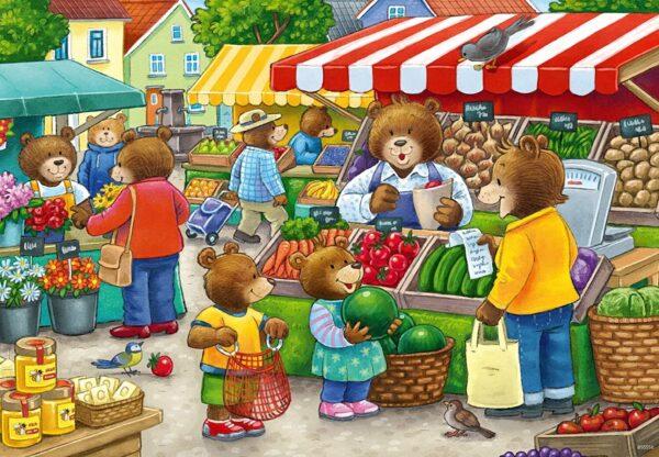 Let's Go Shopping 2 x 12 Piece Puzzle - Ravensburger