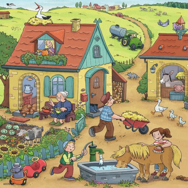 On the Farm 3 x 49 Piece Puzzle - Ravensburger