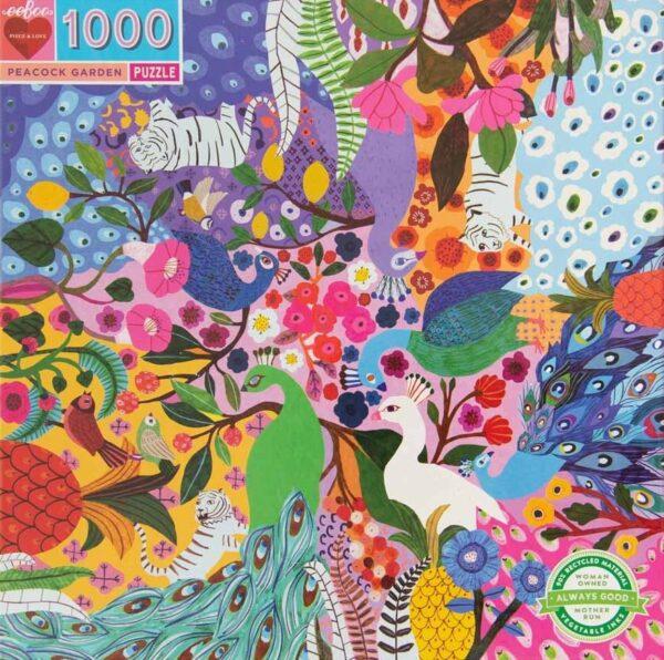Peacock Garden 1000 Piece Puzzle - eeBoo