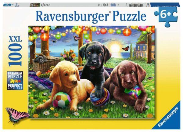 Puppy Picnic 100 XXL Piece Jigsaw Puzzle - Ravensburger