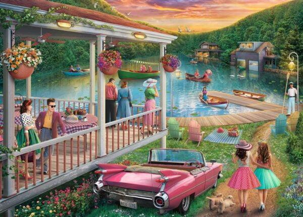Summer at the Lake 300 Large Piece Format Jigsaw Puzzle - Ravensburger