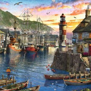 Sunrise at the Port 500 Piece Jigsaw Puzzle - Ravensburger