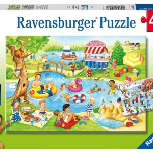 Swimming at the Lake 2 x 24 Piece Puzzles - Ravensburger