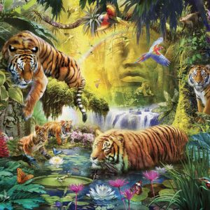 Tranquil Tigers 1500 Piece Puzzle - Ravensburger