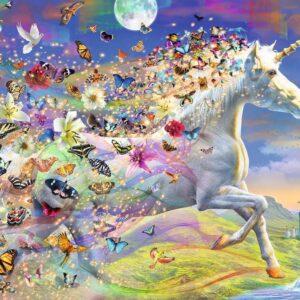 Unicorn and Butterflies 500 Piece Puzzle - Ravensburger