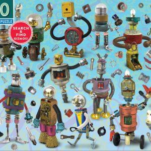 Upcycled Robots 100 Piece Puzzle - eeBoo