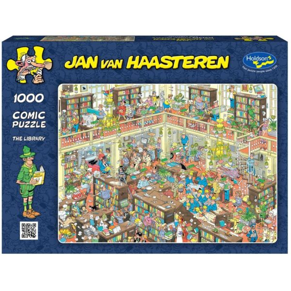 Van Van Haasteren - the Library 1000 Piece Puzzle - Holdson