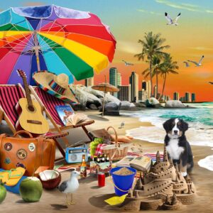 Beach Time 1000 Piece Jigsaw Puzzle - Funbox 1