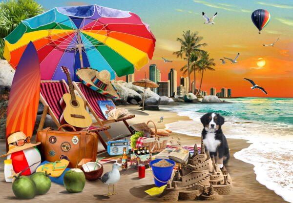 Beach Time 1000 Piece Jigsaw Puzzle - Funbox 1