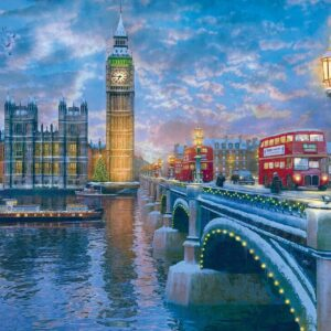 Christmas Eve in London 1000 Piece Puzzle - Eurographics