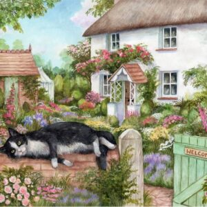 Cottage Cats - The Gate Keeper 500 XL Piece Puzzle - Holdson
