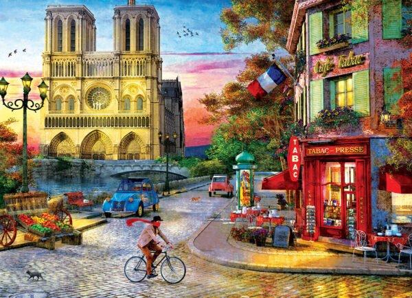 Dominic Davison - Notre Dame Sunset 1000 Piece Puzzle - Eurographics