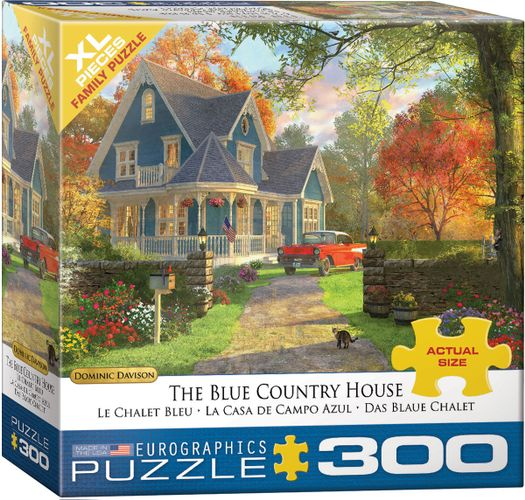 Dominic Davison - The Blue Country House 300 XL Piece Puzzle - Eurographics