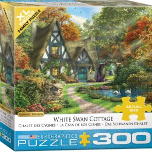 Dominic Davison - White Swan Cottage 300 XL Piece Puzzle - Eurographics