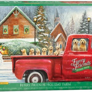 Furry Friends Holiday Farm 1000 Piece Puzzle - Eurographics