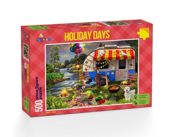 Holiday Days - Caravanning 1000 Piece Puzzle - Funbox