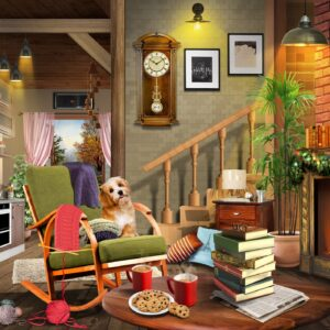 Inside Merle's Cottage 1000 Piece Jigsaw Puzzle - Funbox