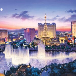 Lushpin - Las Vegas Strip 1000 piece Puzzle - Eurographics