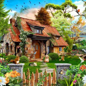 Merle's Cottage 1000 Piece Puzzle - Funbox