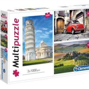 Multi Pack - Italy 3 x 1000 Piece Puzzles - Clementoni
