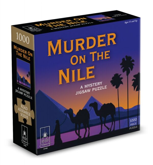 Murder on the Nile Mystery 1000 Piece Jigsaw Puzzle - Bepuzzled
