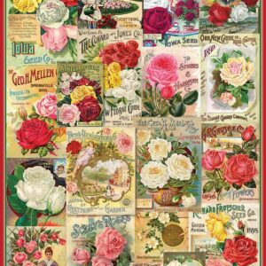 Roses Seed Catalogue 1000 Piece Puzzle - Eurographics