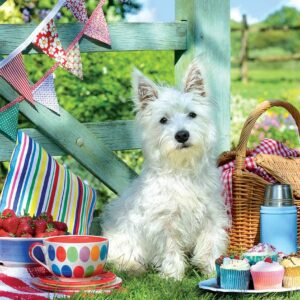 Scottie Dog Picnic 500 LARGE Piece Puzzle - Eurographics
