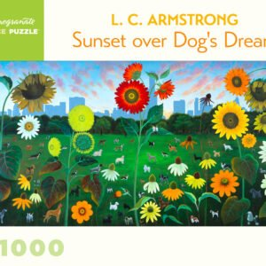 Sunset over Dog's Dream 1000 Piece Puzzle - Pomegranate