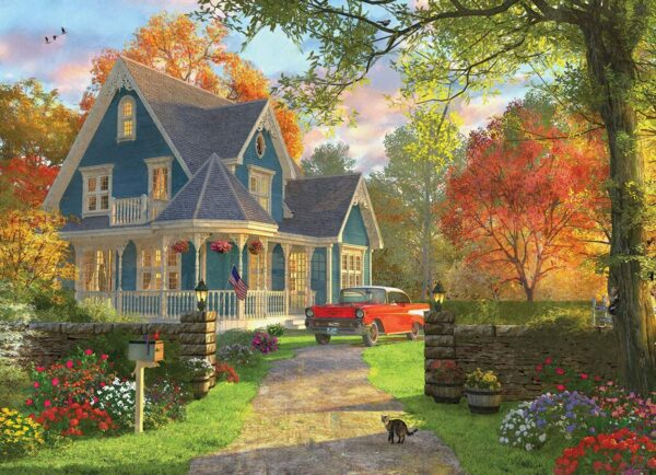 The Blue Country House 300 XL Piece Puzzle - Eurographics