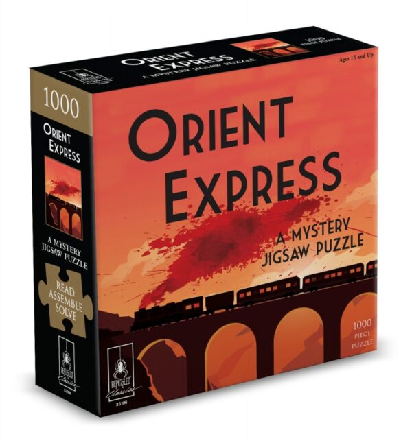The Orient Express Classic Mystery 1000 Piece Puzzle - Bepuzzled