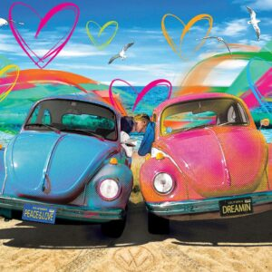 VW Beetle Love 1000 Piece Puzzle - Eurographics